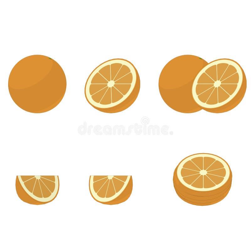 Ejemplo de la naranja imágenes de archivo libres de regalías