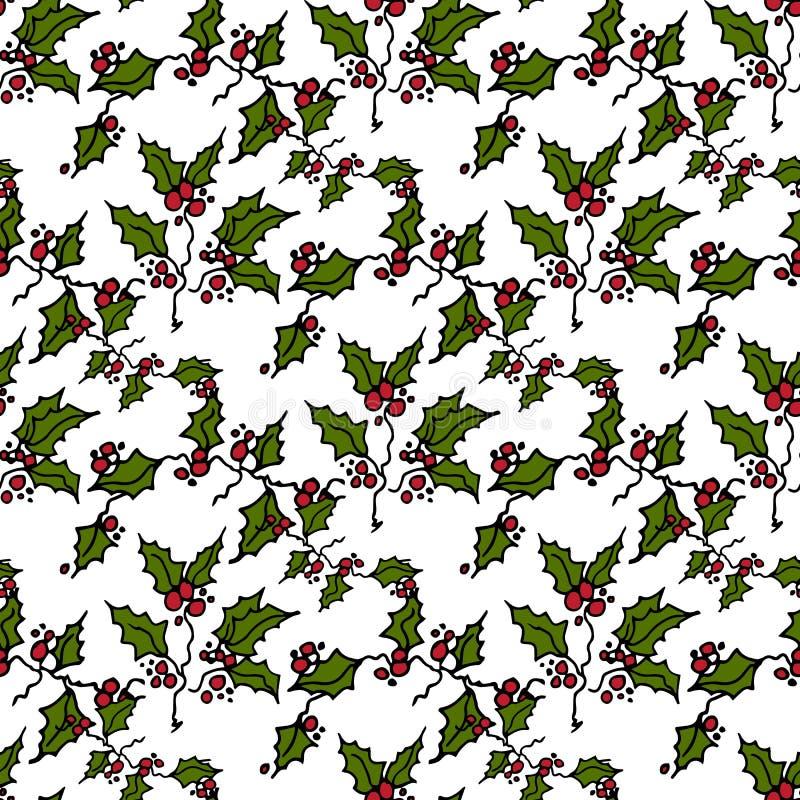 Ejemplo de la Navidad Las ramas del muérdago en un CCB verde libre illustration