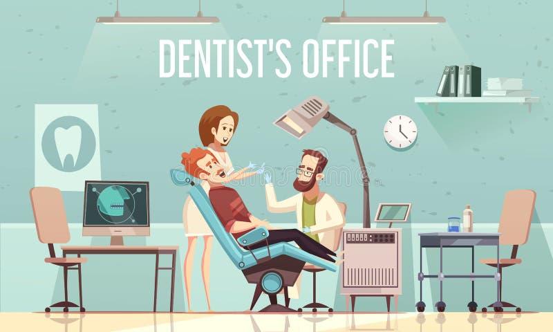 Ejemplo de la oficina de los dentistas stock de ilustración
