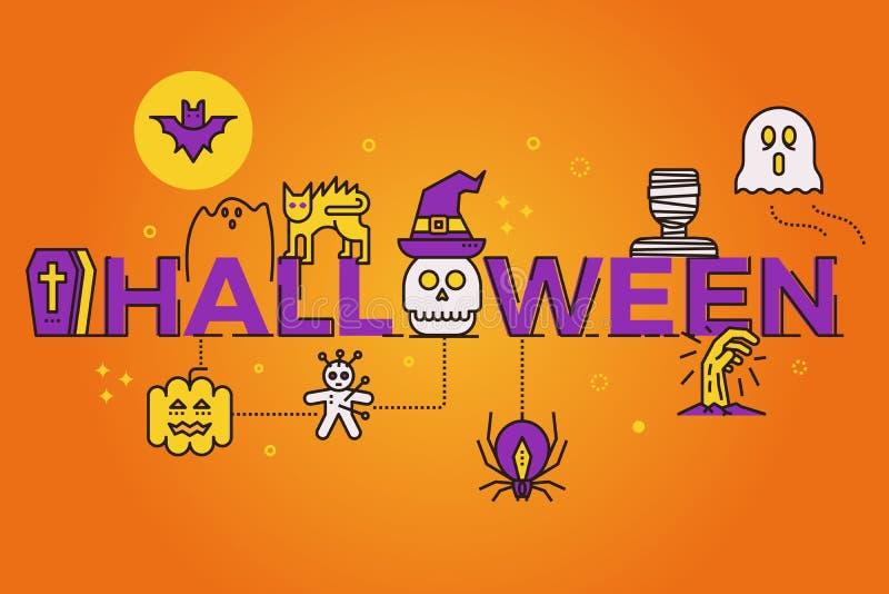 Ejemplo de la palabra de Halloween libre illustration