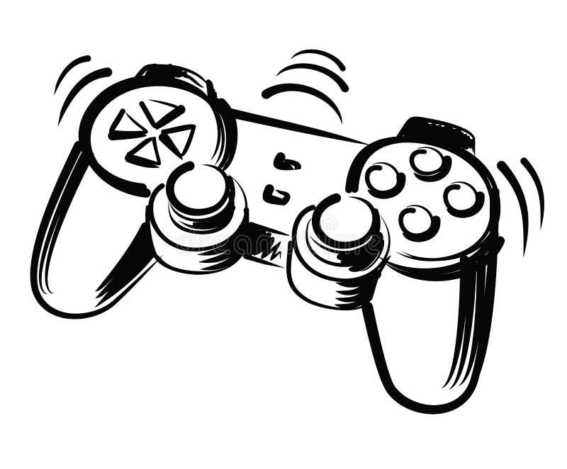 Ejemplo de la palanca de mando stock de ilustración