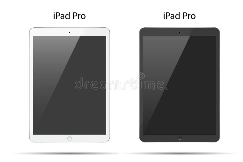 Ejemplo de la PC negra de la tableta lo mismo con el ipade encendido libre illustration