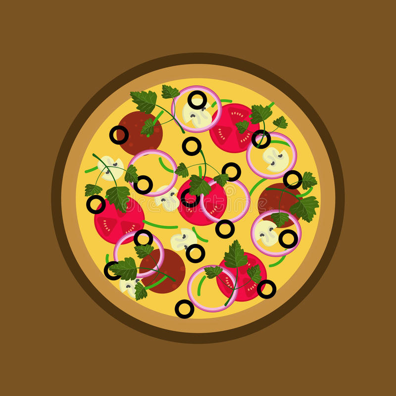 Ejemplo de la pizza ilustración del vector
