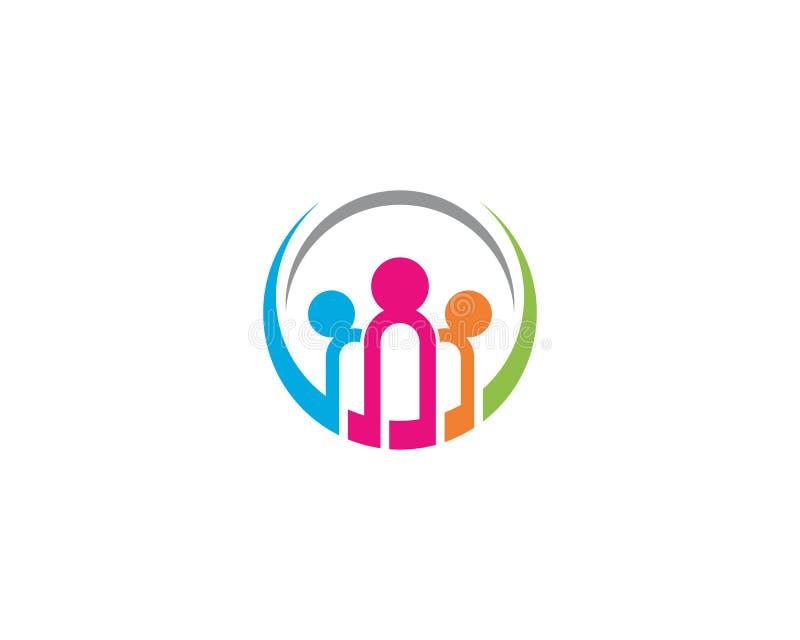 Ejemplo de la plantilla del logotipo de la comunidad ilustración del vector