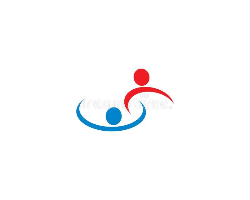 Ejemplo de la plantilla del logotipo de la comunidad libre illustration