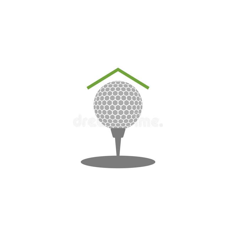 Ejemplo de la plantilla del vector del diseño del logotipo del icono del golf stock de ilustración