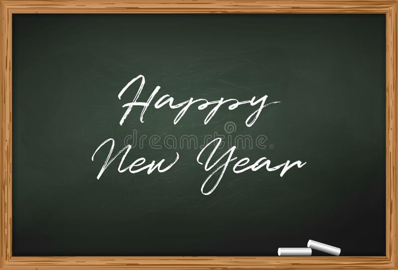 ejemplo de la plantilla de la tarjeta de la celebración del Año Nuevo libre illustration