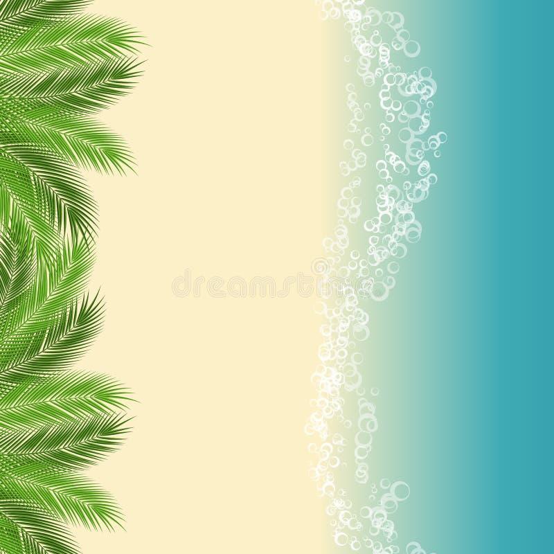 Ejemplo de la playa del verano stock de ilustración
