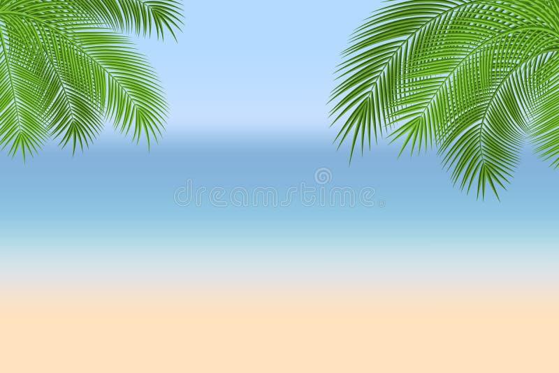 Ejemplo de la playa del verano libre illustration