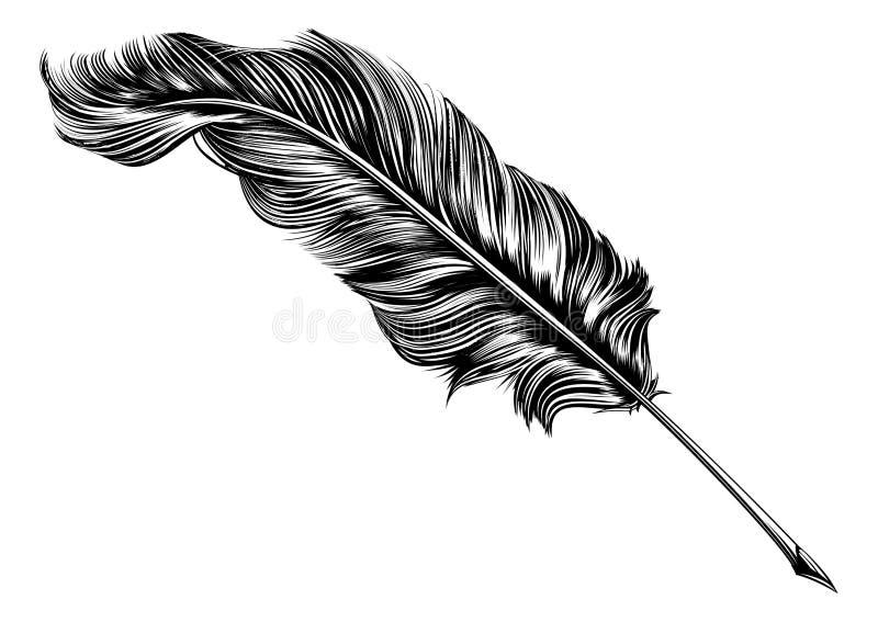 Ejemplo de la pluma de canilla de la pluma del vintage stock de ilustración