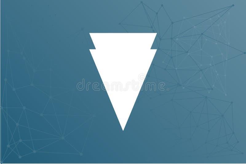Ejemplo de la red del icono del cryptocurrency del borde XVG libre illustration