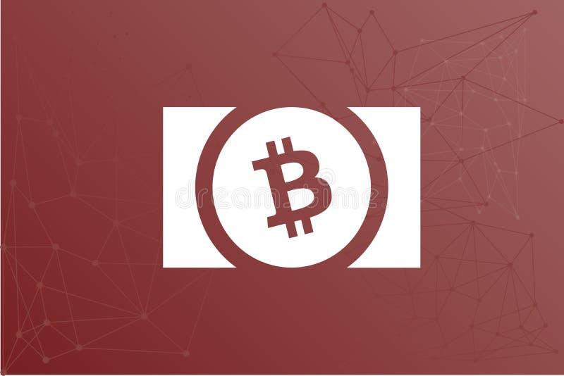 Ejemplo de la red del logotipo de BCH del efectivo de Bitcoin libre illustration