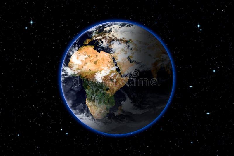 ejemplo de la representación 3d de la tierra del planeta ilustración del vector