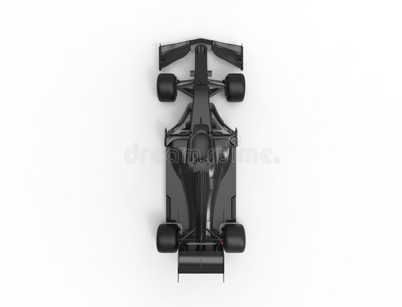 ejemplo de la representaci?n 3D de un todo coche deportivo negro de la raza de la f?rmula stock de ilustración