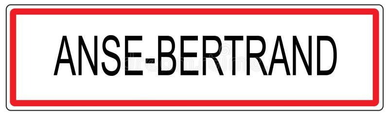 Ejemplo de la señal de tráfico de ciudad de Anse Bertrand en Francia libre illustration