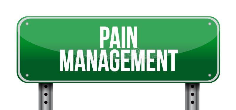 ejemplo de la señal de tráfico de la gestión del dolor stock de ilustración