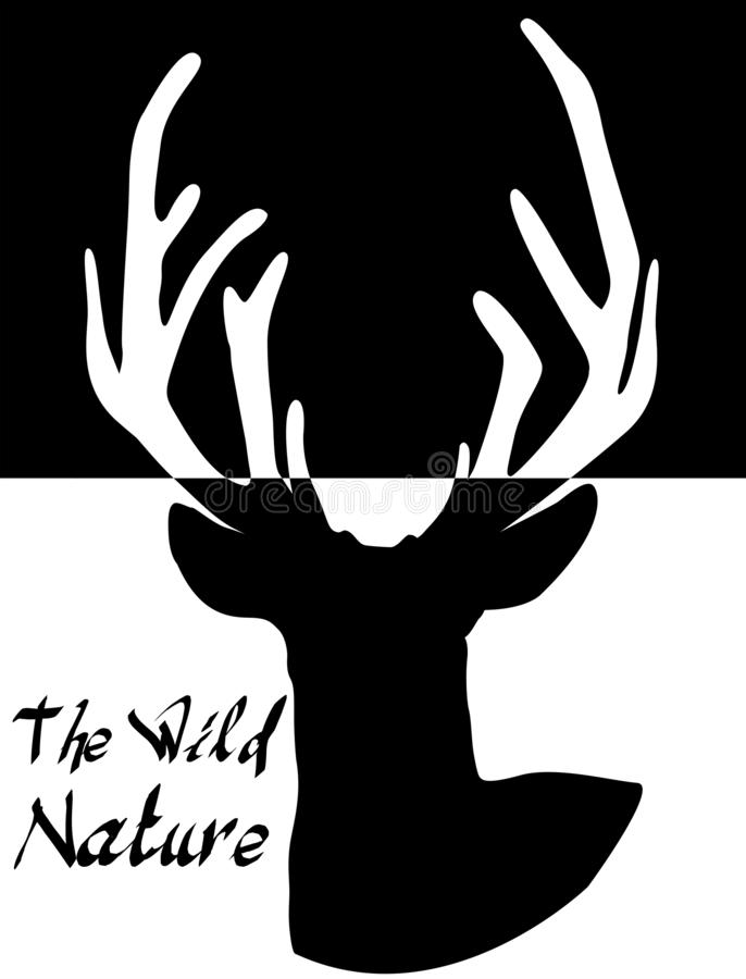 Ejemplo de la silueta de los ciervos, gráfico de los ciervos, gráficos de la camiseta libre illustration