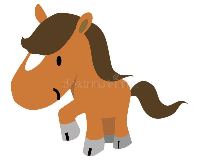 Ejemplo del caballo ilustración del vector