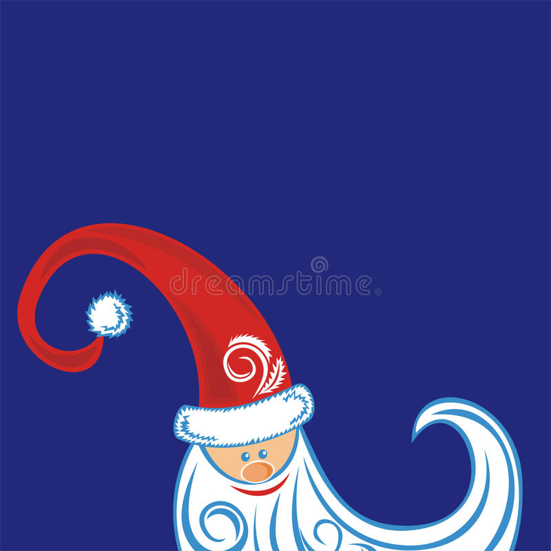 Ejemplo de la tarjeta de la Feliz Año Nuevo ilustración del vector