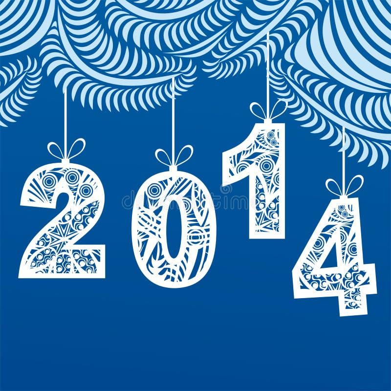 Ejemplo de la tarjeta de la Feliz Año Nuevo libre illustration