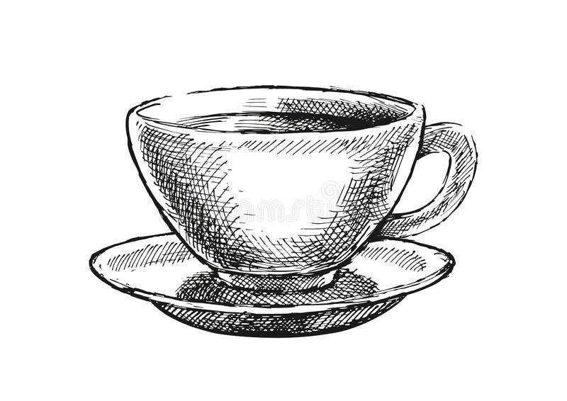Ejemplo de la taza de café fotos de archivo