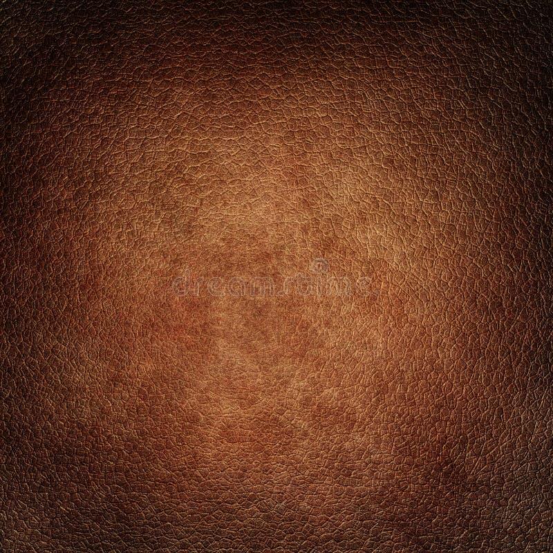 Ejemplo de la textura del fondo del cuero de Brown ilustración del vector