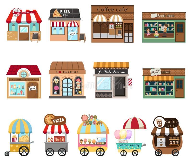 Ejemplo de la tienda de la tienda de la colección stock de ilustración