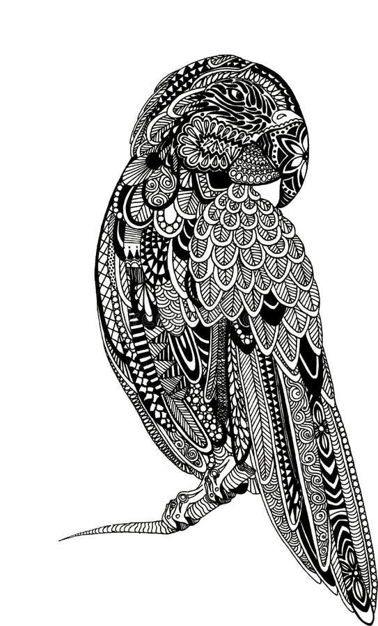 Download Ejemplo De La Tinta Del Loro De Zentagle Stock de ilustración - Ilustración de cepillo, fine: 100529798