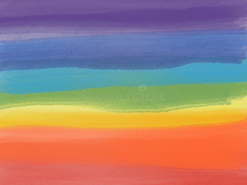 Ejemplo de la trama de un arco iris stock de ilustración