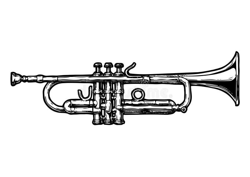 Ejemplo de la trompeta ilustración del vector