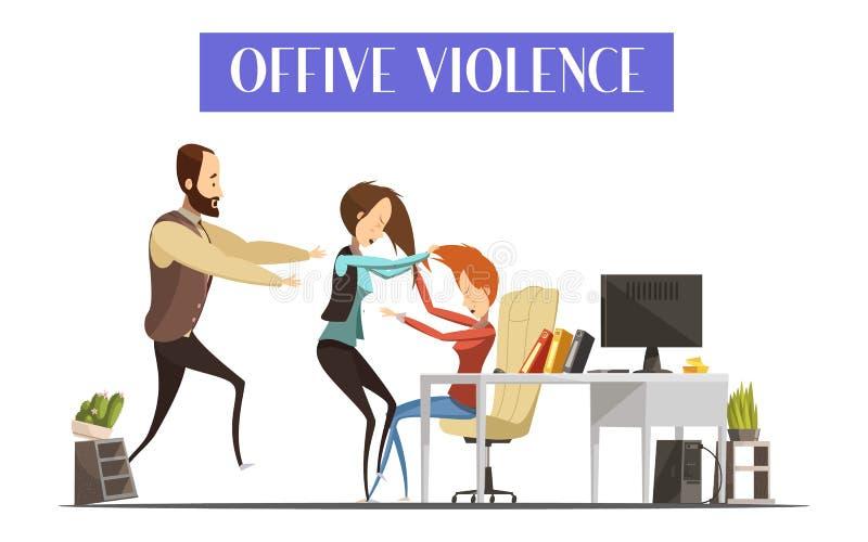 Ejemplo de la violencia de la oficina stock de ilustración