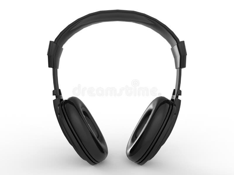 Ejemplo de la vista delantera de los auriculares stock de ilustración