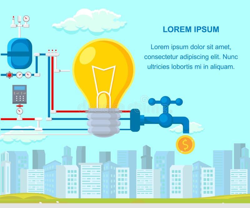 Ejemplo de lanzamiento del vector del esquema de la monetización stock de ilustración