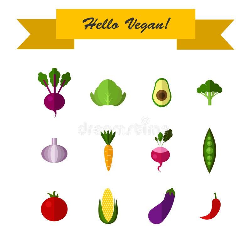 Ejemplo de las frutas planas del diseño y libre illustration