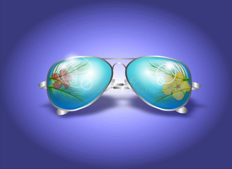 Ejemplo de las gafas de sol del verano ilustración del vector