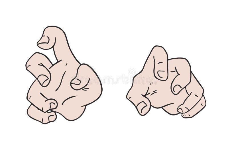 Ejemplo de las manos del mago ilustración del vector
