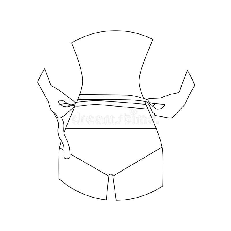 Ejemplo de las medidas de cintura libre illustration