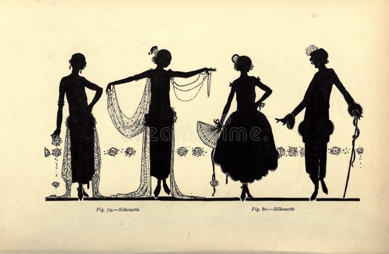 Ejemplo de las señoras del vintage fotos de archivo
