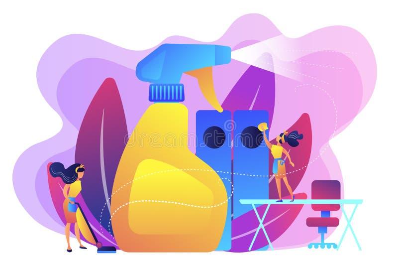 Ejemplo de limpieza comercial del vector del concepto libre illustration
