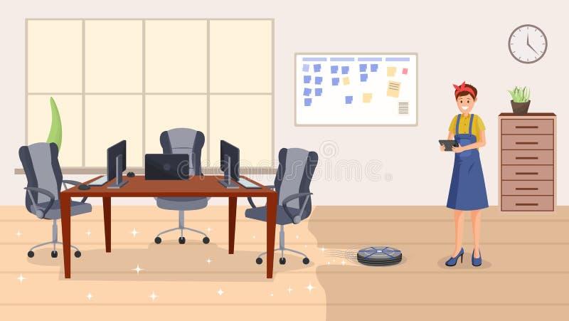 Ejemplo de limpieza del vector del plano de servicio de la oficina libre illustration