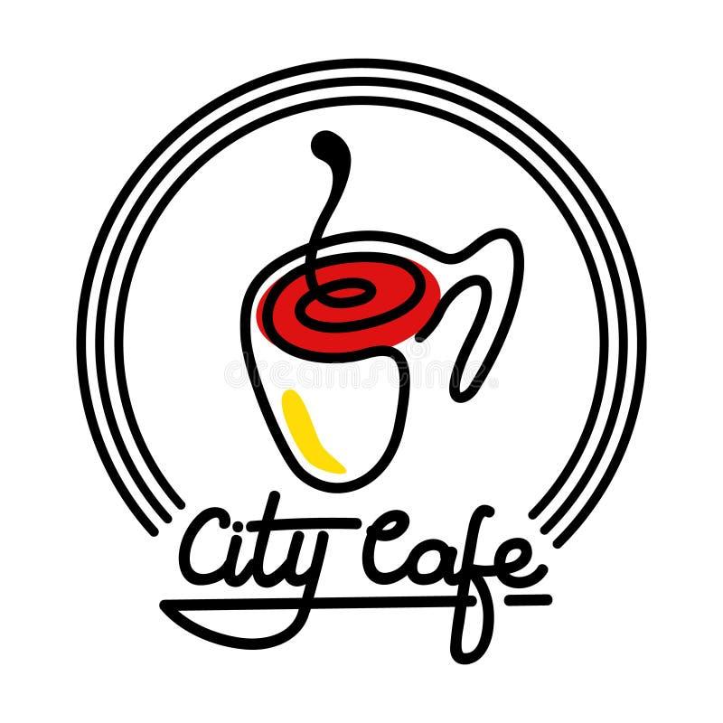 Ejemplo de Logo Template Design Vector del café de la ciudad fotografía de archivo