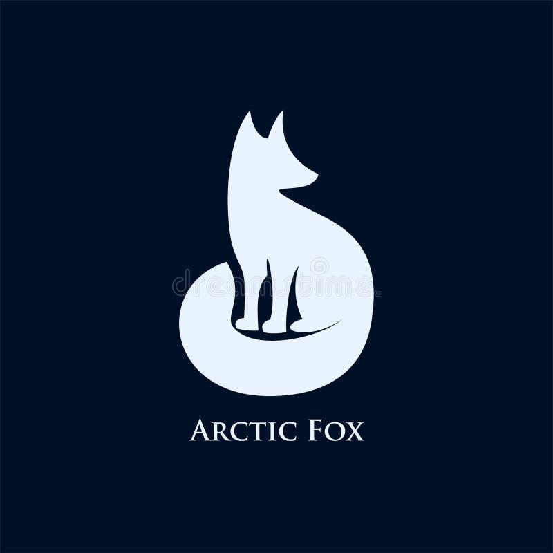 Ejemplo de los diseños del icono del logotipo del zorro ártico libre illustration