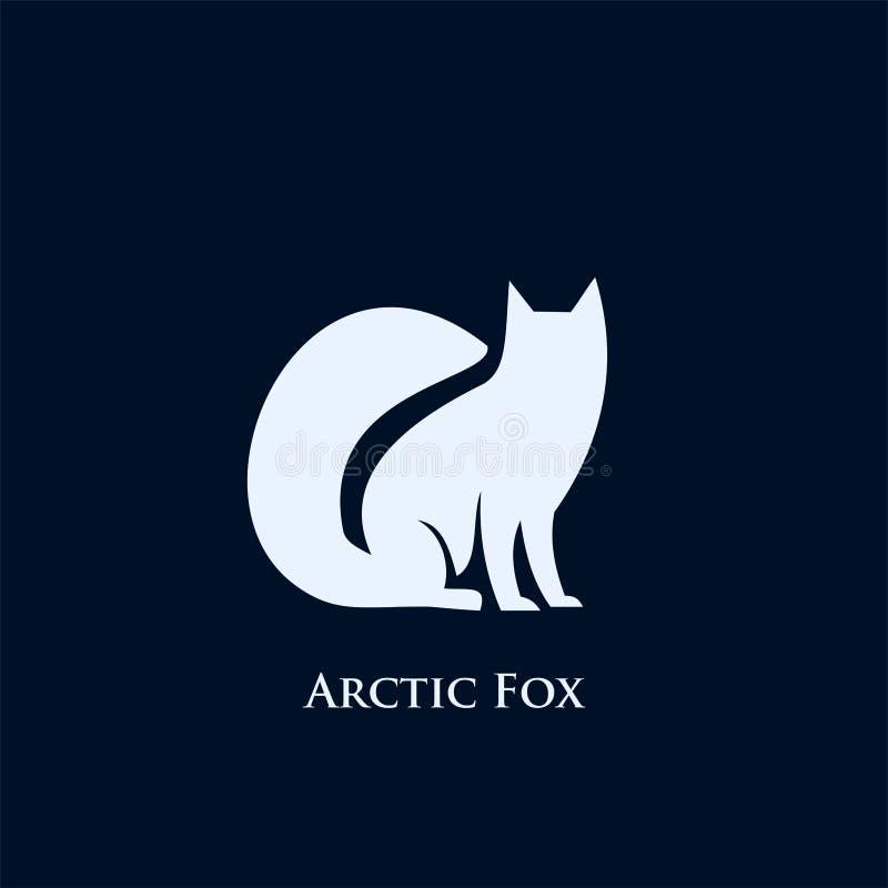 Ejemplo de los diseños del icono del logotipo del zorro ártico ilustración del vector