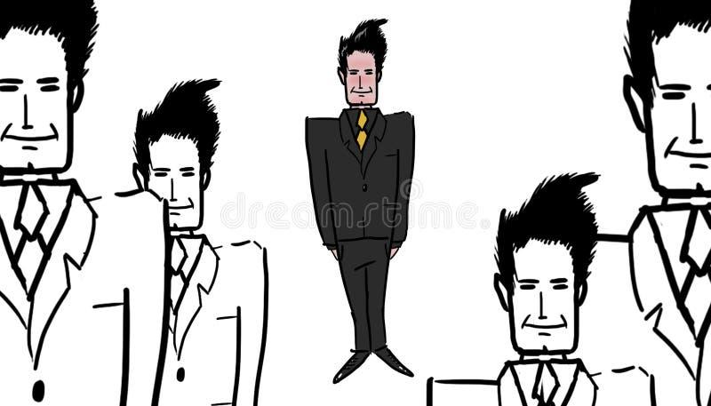 Ejemplo de los ejecutivos ilustración del vector