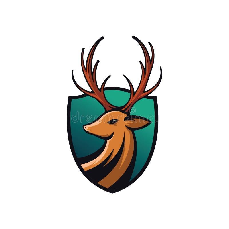 Ejemplo de los escudos de los ciervos libre illustration