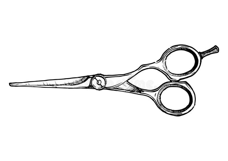 Ejemplo de los esquileos del pelo-corte libre illustration