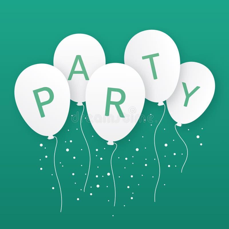 Ejemplo de los globos del partido libre illustration