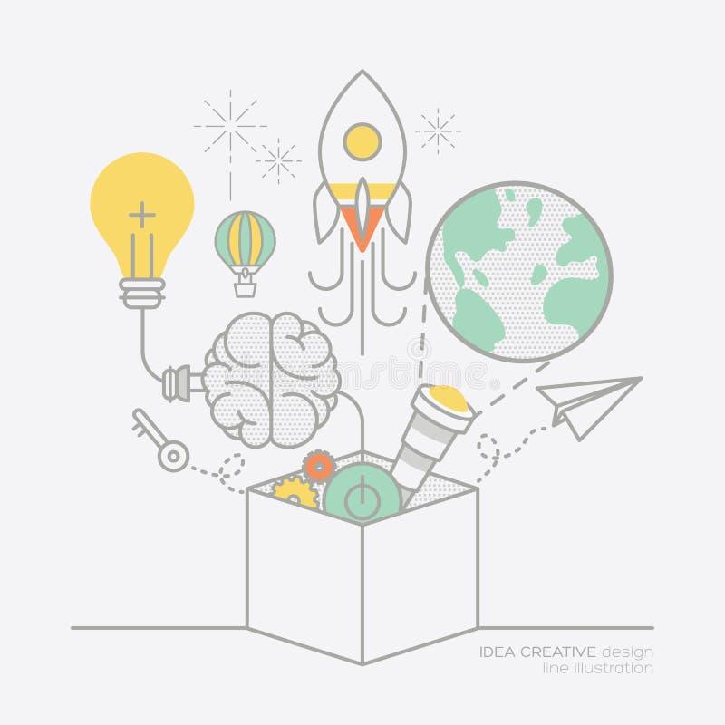 Ejemplo de los iconos del esquema del concepto de la idea del plan empresarial ilustración del vector