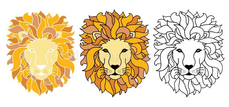 Ejemplo de los leones del vector stock de ilustración