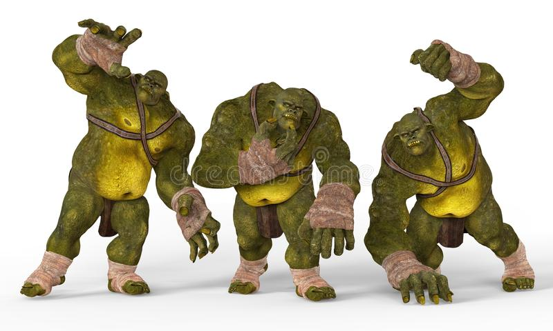 Ejemplo de los ogros 3D libre illustration